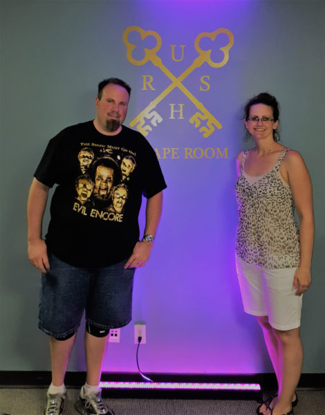 Mike and Maegen at Amazing Escape in Atlanta