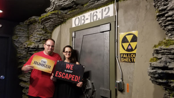 Mike and Maegen in The Bunker at Escape Experience Chattanooga