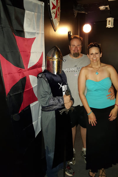 Mike and Maegen at Escape Kings in Charlotte