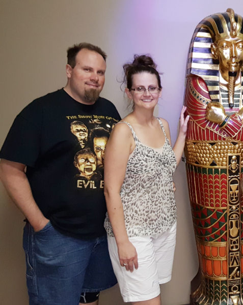 Mike and Maegen at Artifact Room at Project Escape