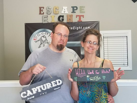 Mike and Maegen at Escape Eight in Rock Hill
