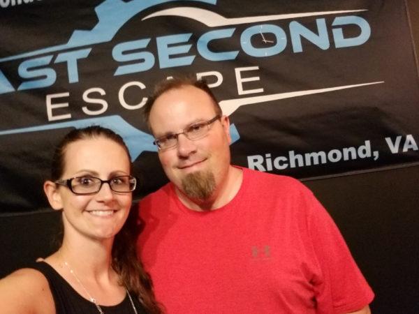 Mike and Maegen at Last Second Escape in Richmond, VA