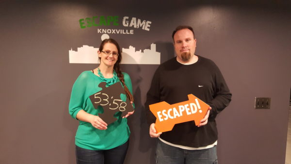 Maegen and Michael at Escape Game Knoxville