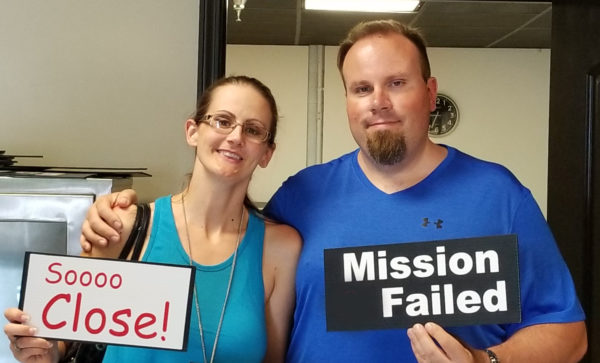 Maegen and Michael at Mission Escape