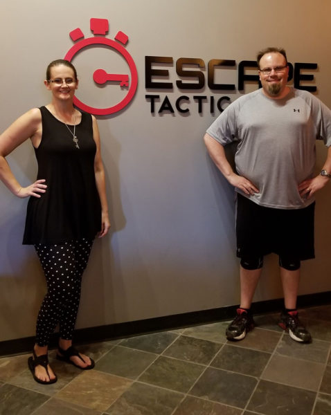 Maegen and Michael at Escape Tactic in Charlotte