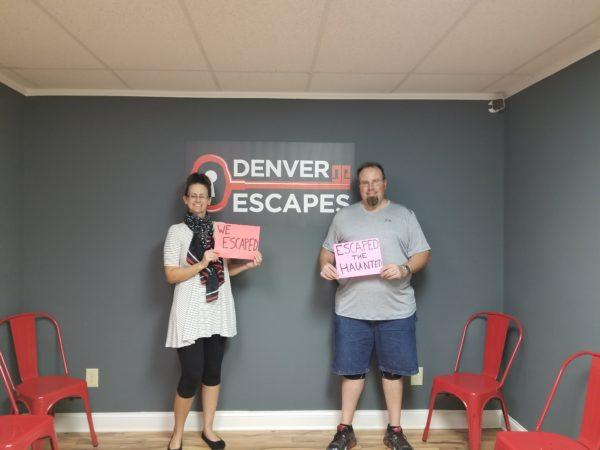 Maegen and Michael at Denver Escapes in Denver, NC