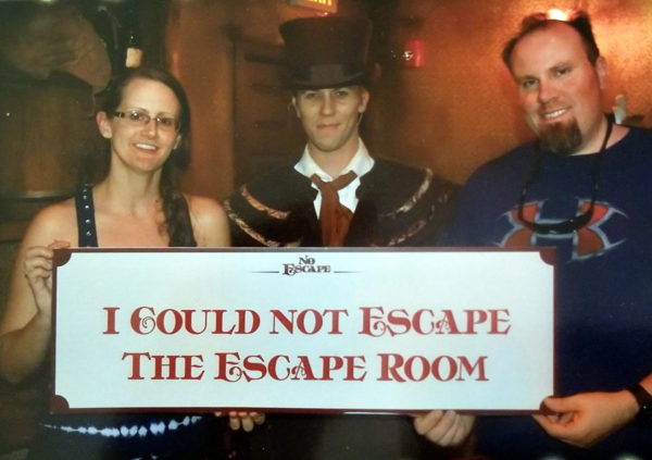 Maegen and Michael at Case of Jack the Ripper
