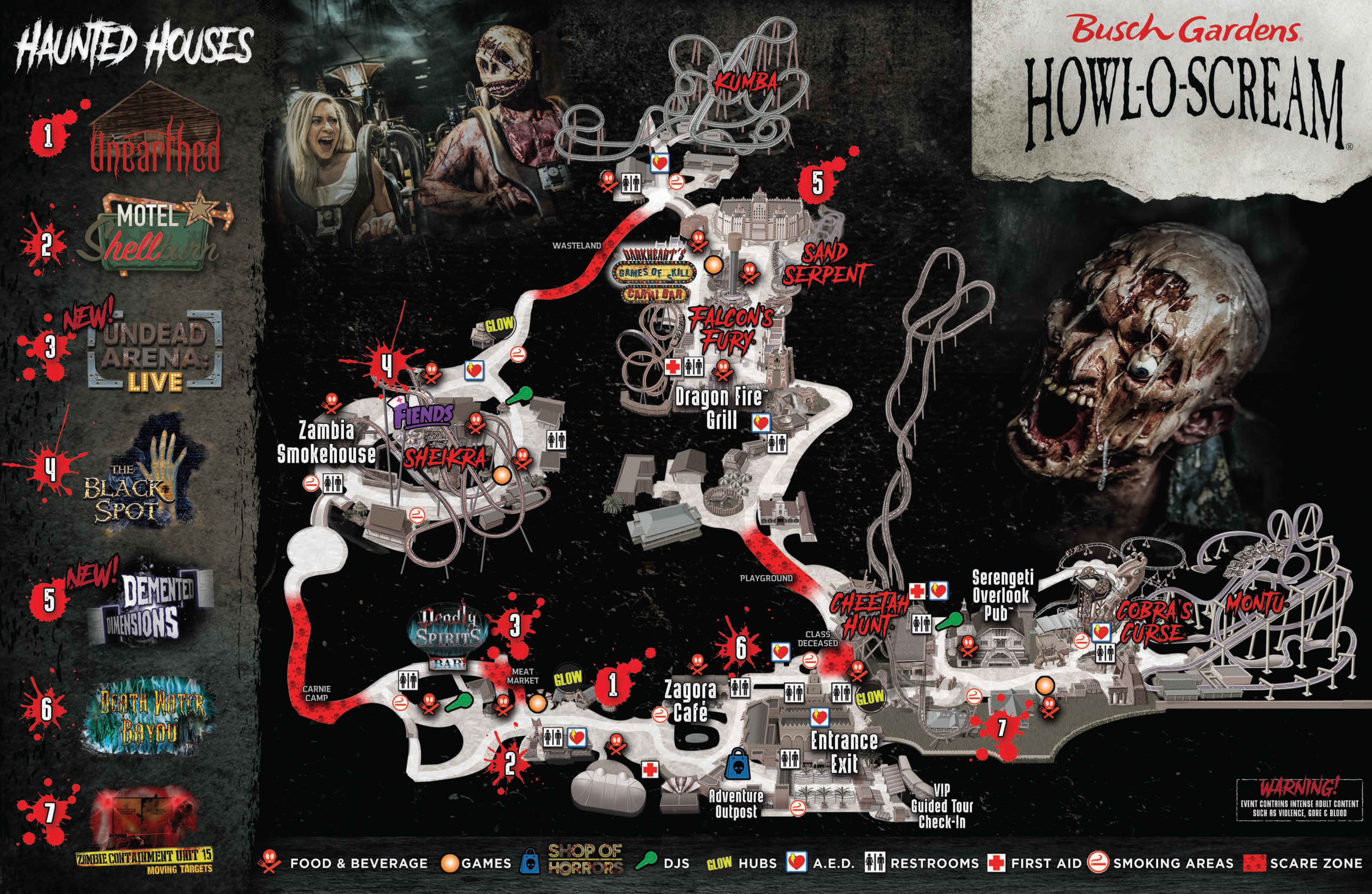 Howl o scream awful lines - Review of Busch Gardens, Tampa ...