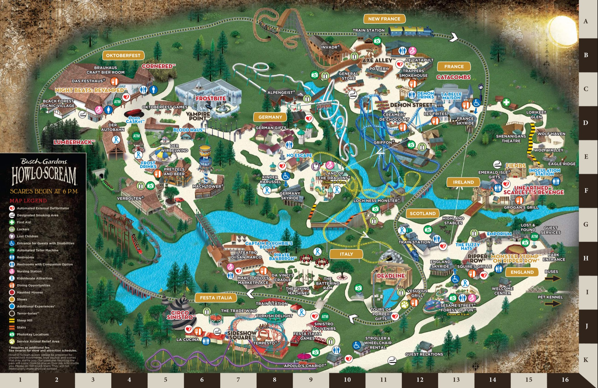 Map Of Busch Gardens Williamsburg 2017 Garden Ftempo