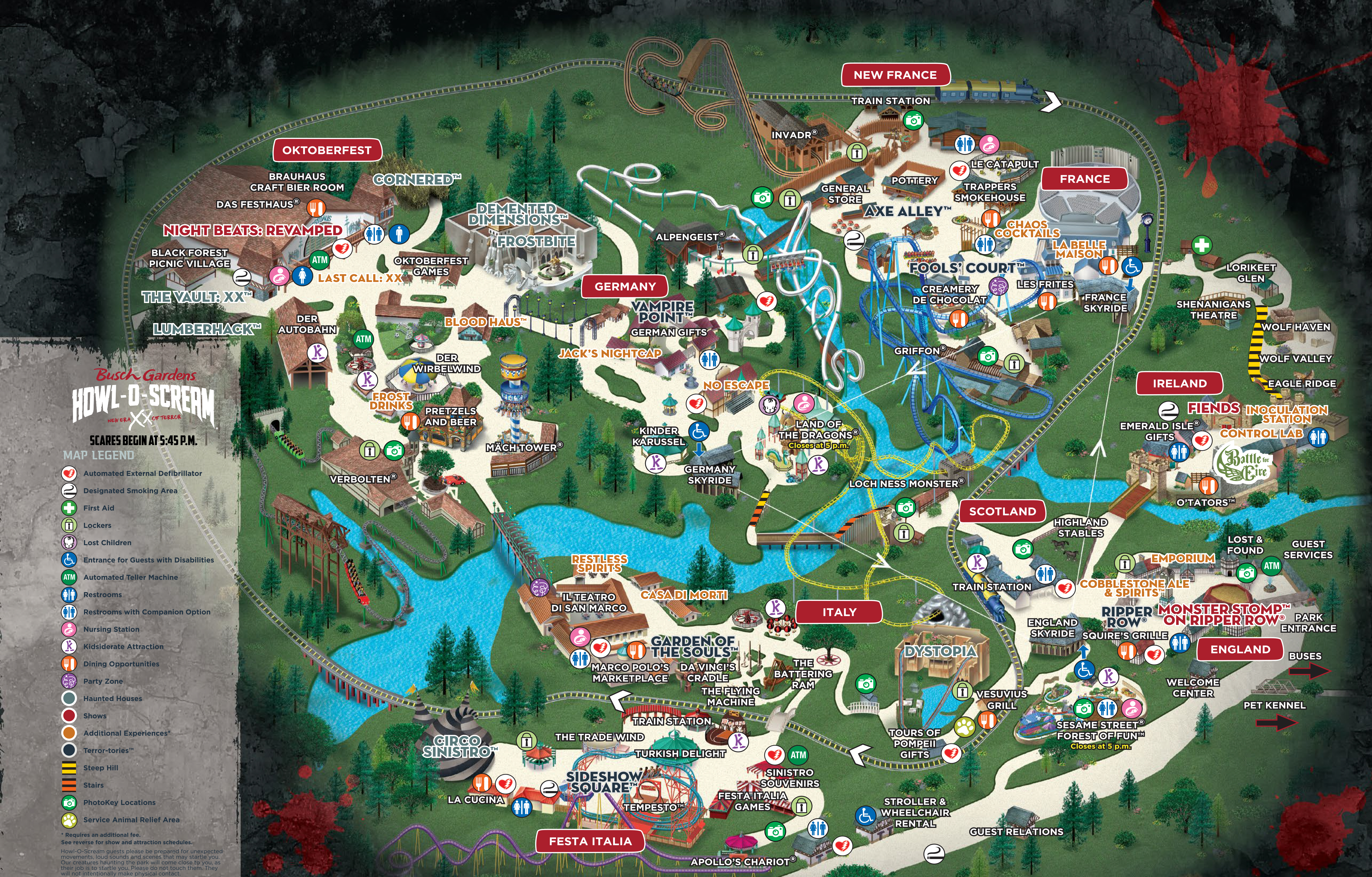 busch gardens map 2020